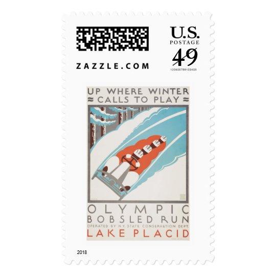 Olympic Fun Lake Placid 1936 WPA Postage