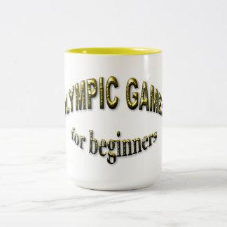 Olympic Games for Beginners Two-Tone Coffee Mug
