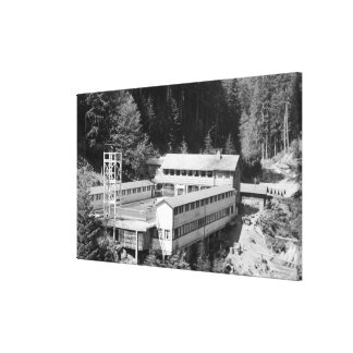 Olympic Hot Springs, WA Lodge View Photograph #1 Stretched Canvas Prints