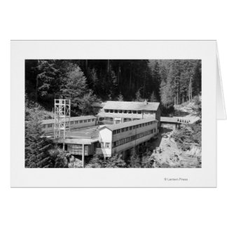 Olympic Hot Springs, WA Lodge View Photograph #1 Card