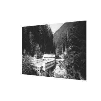 Olympic Hot Springs, WA Lodge View Photograph #2 Gallery Wrap Canvas