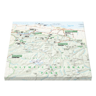 Olympic map canvas print