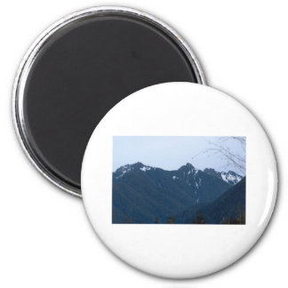 Olympic Mountains Photography Art Design Nature 2 Inch Round Magnet
