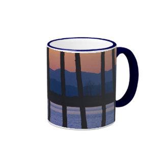 Olympic Mountains Sunset Ringer Coffee Mug