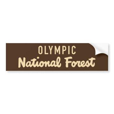 McTiffany Tiffany Aqua Olympic National Forest Bumper Sticker
