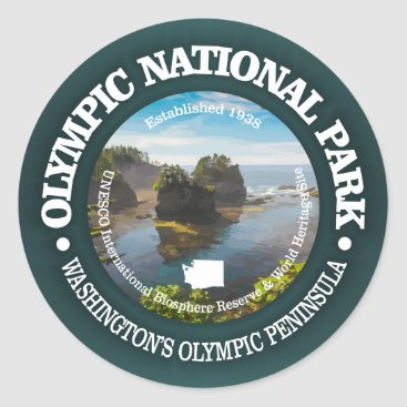 USA Themed Olympic National Park Classic Round Sticker