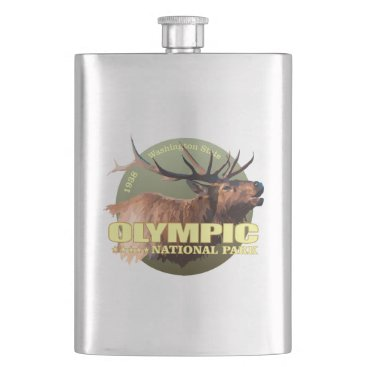 USA Themed Olympic National Park (Elk) WT Flask