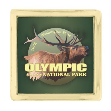 Beach Themed Olympic National Park (Elk) WT Gold Finish Lapel Pin