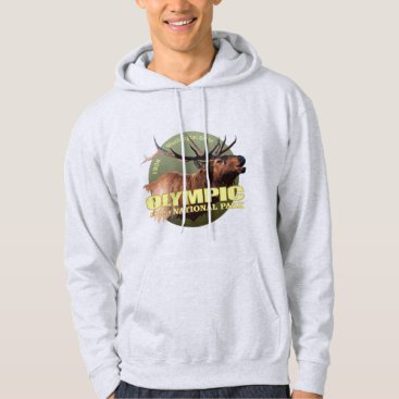 USA Themed Olympic National Park (Elk) WT Hoodie