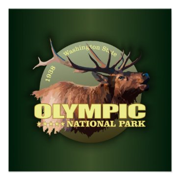 Beach Themed Olympic National Park (Elk) WT Poster
