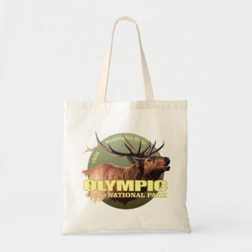 Beach Themed Olympic National Park (Elk) WT Tote Bag