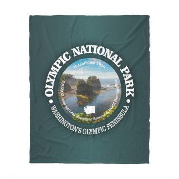 USA Themed Olympic National Park Fleece Blanket