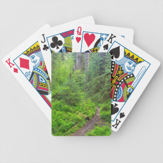 Olympic National Park, Forest trail Bicycle Playing Cards