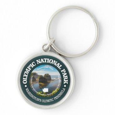 USA Themed Olympic National Park Keychain