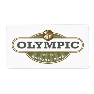 Olympic National Park Personalized Shipping Labels