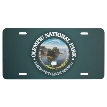 USA Themed Olympic National Park License Plate