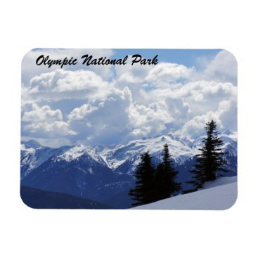 Christmas Themed Olympic National Park Magnet