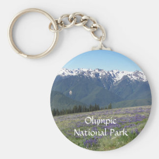 Olympic National Park Metal Basic Round Button Keychain