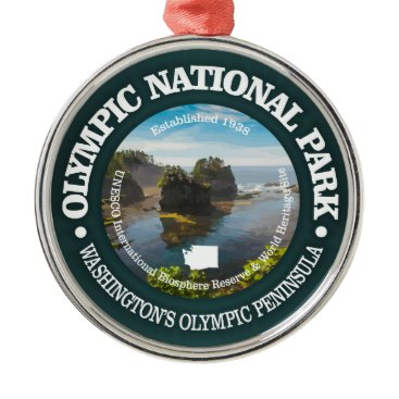 USA Themed Olympic National Park Metal Ornament