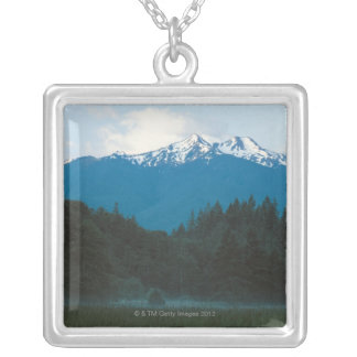 Olympic National Park , Mt. Olympus , Washington Silver Plated Necklace