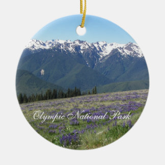Olympic National Park Photo Ceramic Ornament