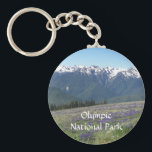 """Olympic National Park Photo Keychain<br><div class=""""desc"""">Remember your visit to Olympic National Park with this metal badge style key chain that features a scenic photo image of Olympic National Park,  Washington. Select your key chain style. To see other products we have to offer,  click on the Northwestphotos store link.</div>"""