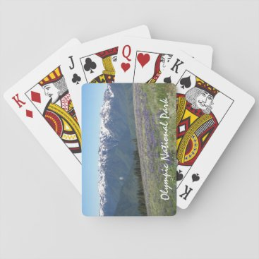 Christmas Themed Olympic National Park Photo Playing Cards