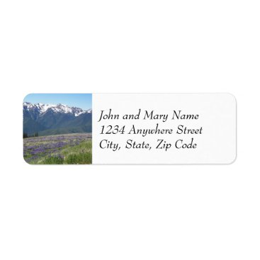 Christmas Themed Olympic National Park Photo Return Address Labels