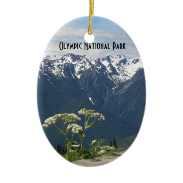 Christmas Themed Olympic National Park Photo Single-Sided Ornament