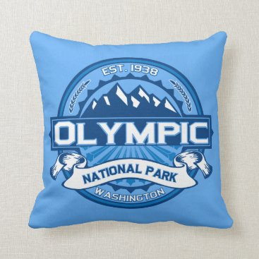 Christmas Themed Olympic National Park Pillow