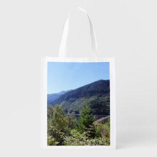 Olympic National Park, Seattle, U.S.A. landscape Reusable Grocery Bag