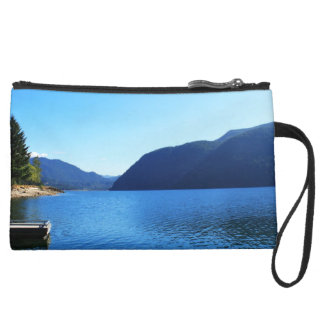Olympic National Park, Seattle, U.S.A. Suede Wristlet Wallet