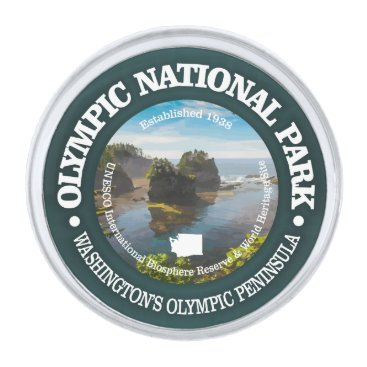 USA Themed Olympic National Park Silver Finish Lapel Pin