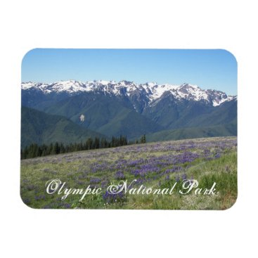 Christmas Themed Olympic National Park Travel Photo Magnet