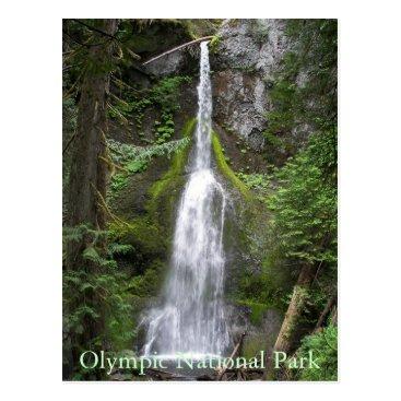 Christmas Themed Olympic National Park Waterfall Photo Postcard