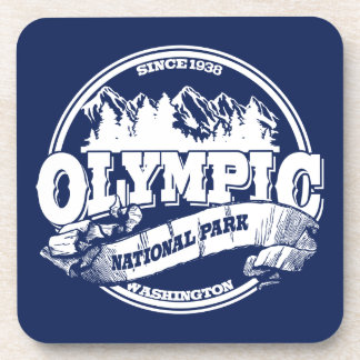 Olympic Old Circle Blue Beverage Coaster