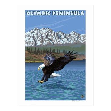 Valentines Themed Olympic Peninsula, WashingtonFishing Eagle Postcard