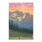 Olympic Peninsula, WashingtonSpring Flowers Canvas Print