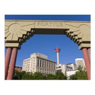 Olympic Plaza and Calgary Tower, Alberta, Canada Postcard