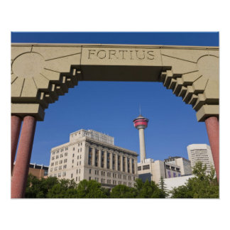 Olympic Plaza and Calgary Tower, Alberta, Canada Poster