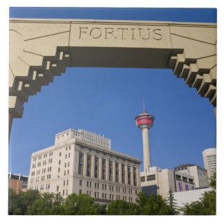 Olympic Plaza and Calgary Tower, Alberta, Canada Tile