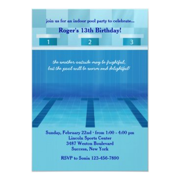 Christmas Themed Olympic Pool Party Invitation