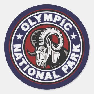Olympic Ram Circle Classic Round Sticker