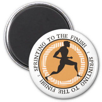Olympic Sprint - Sprinting to the Finish 2 Inch Round Magnet
