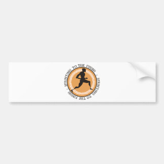 Olympic Sprint - Sprinting to the Finish Bumper Sticker