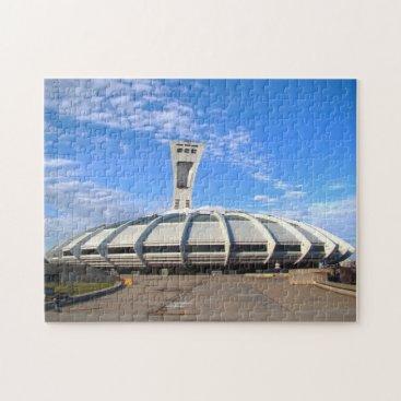 McTiffany Tiffany Aqua Olympic Stadium Montreal. Jigsaw Puzzle