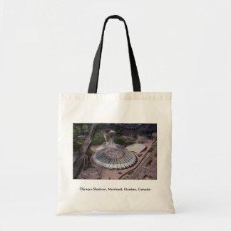 Olympic Stadium, Montreal, Quebec, Canada Canvas Bags