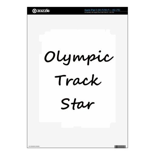 Olympic Track Star iPad 3 Skins