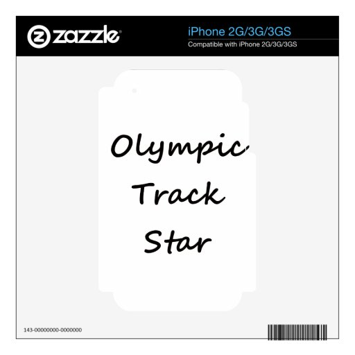 Olympic Track Star iPhone 3G Skin