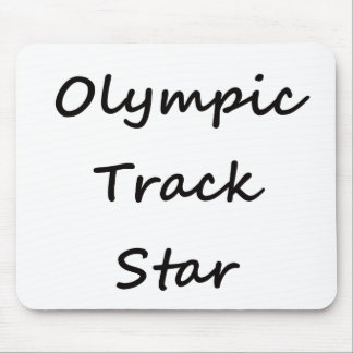 Olympic Track Star Mouse Pads